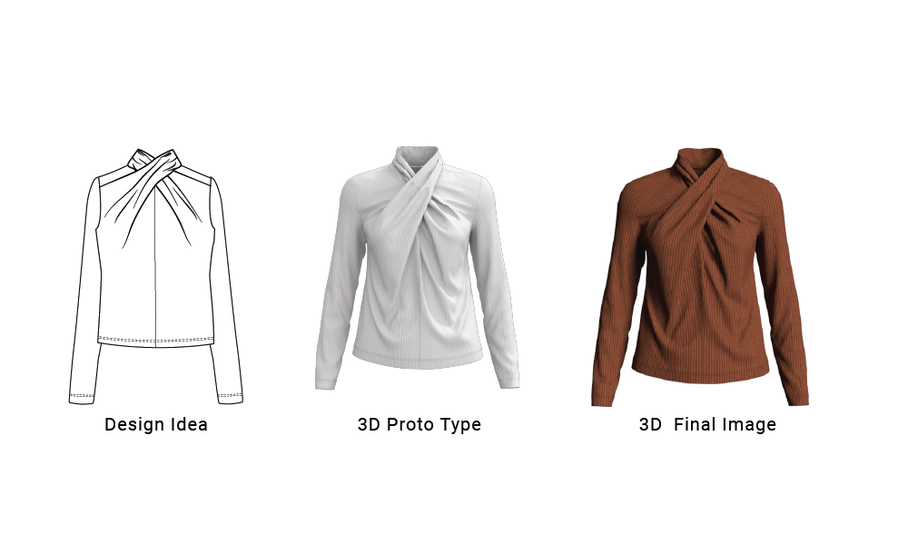 3D Womens Fashion Tops