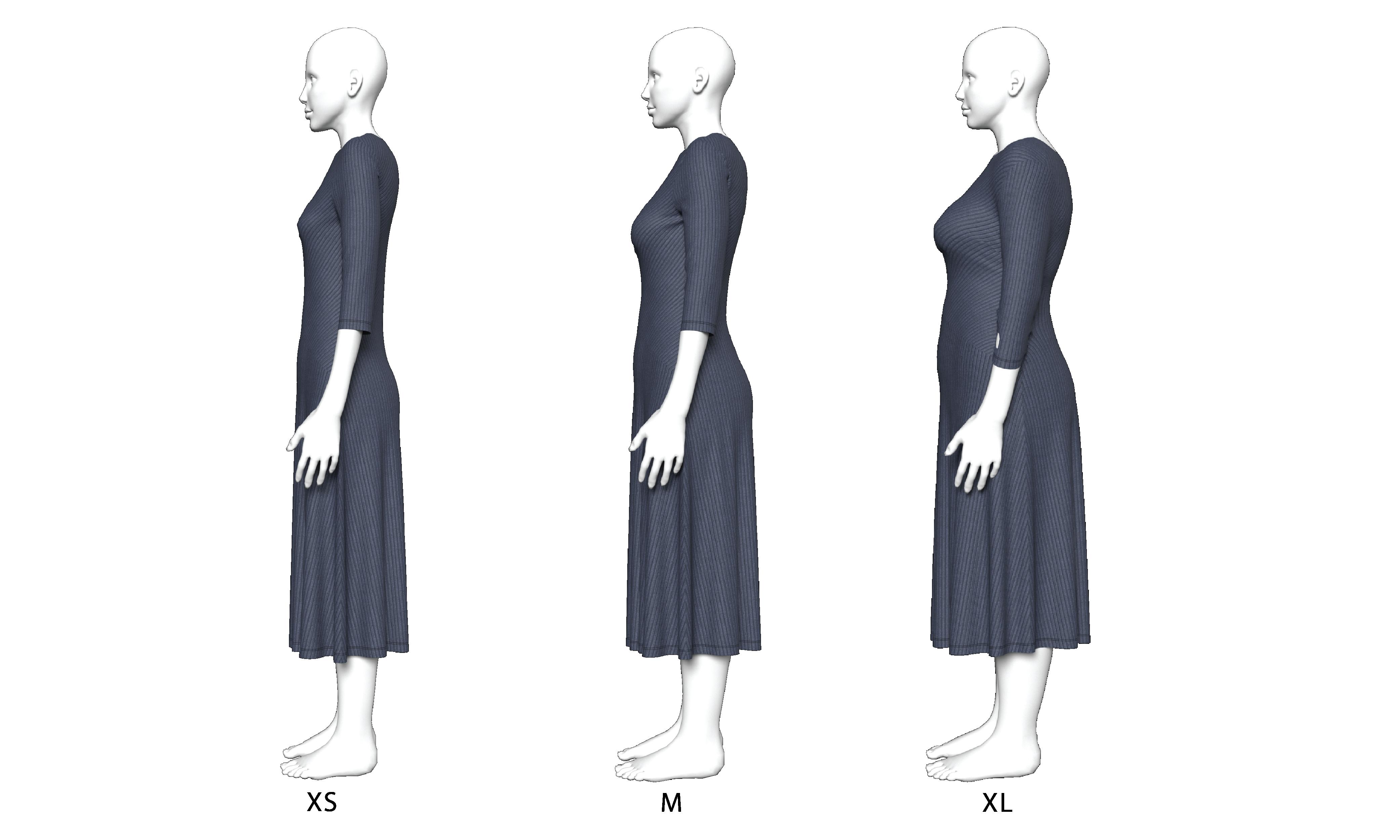 3D avatars women United Textile Group